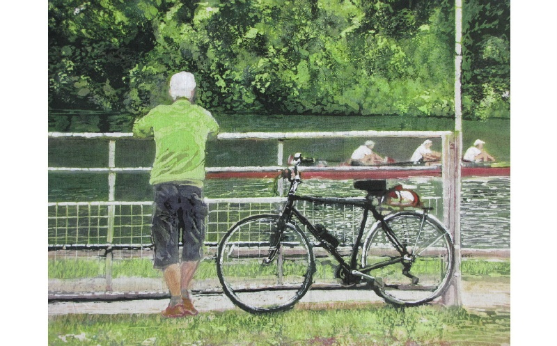 Man and Bicycle