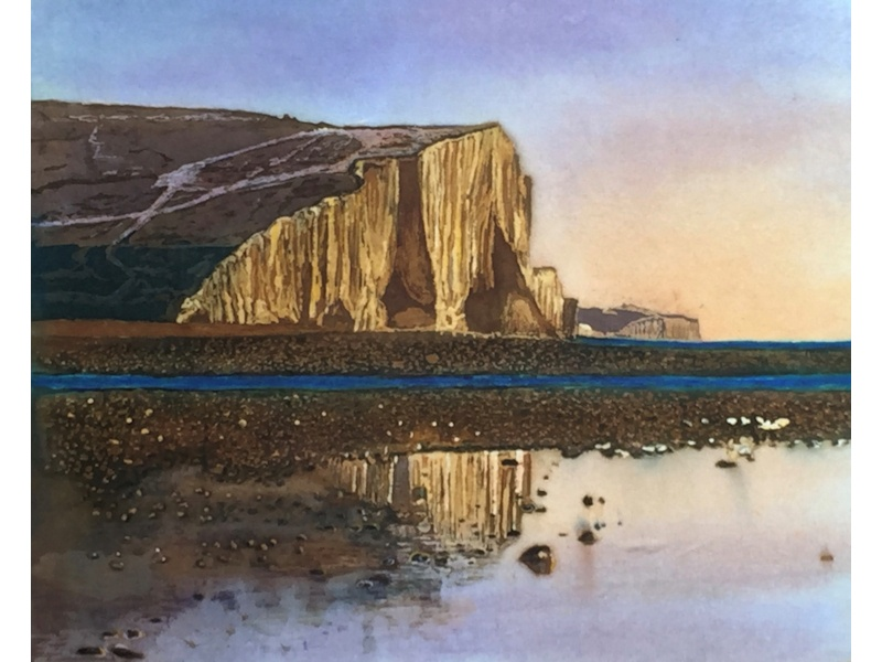 Seven Sisters Cliffs at Sunset