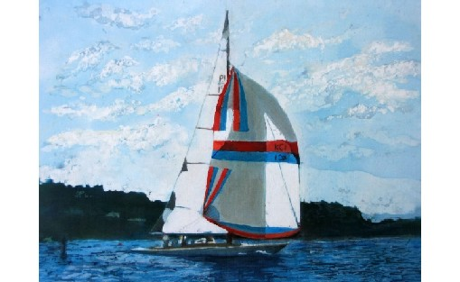 Hayseed IV with Spinnaker