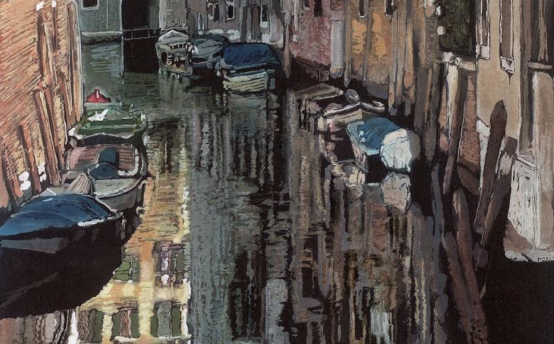 venetian reflection close up